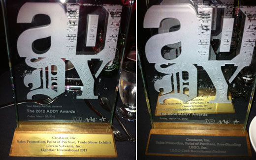 Creatacor Takes Home 2 ADDY Awards!